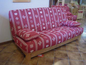 housse clic clac motif montagne noel 2017. Black Bedroom Furniture Sets. Home Design Ideas